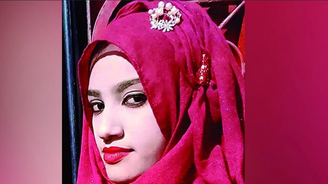 Nusrat Jahan was pressured to withdraw the complaint before her death. Picture: Supplied