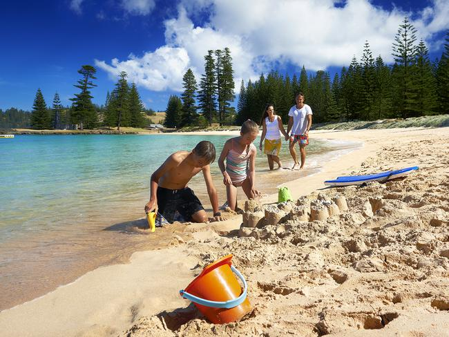 Family friendly Emily Bay at Norfolk Island. Picture: Supplied
