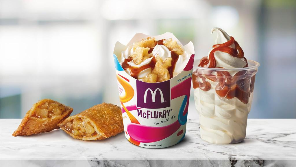 mcdonalds apple pie sundae