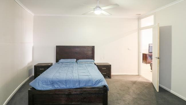 One of the home's four bedrooms. Picture: Darren Seiler