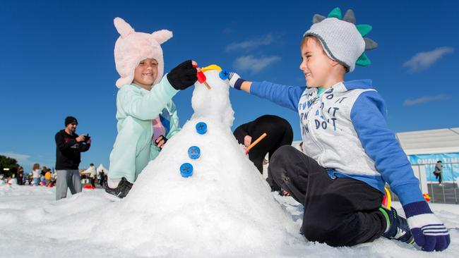 At the Hunter Valley Gardens will be a winter wonderland for families, with a play zone to build your own snowman.