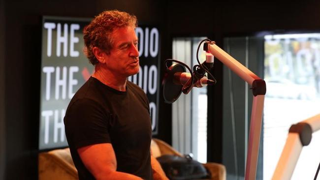 Mark Bouris recording his podcast.