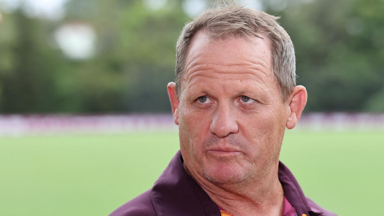 Kevin Walters address the media on Monday. Pic Peter Wallis