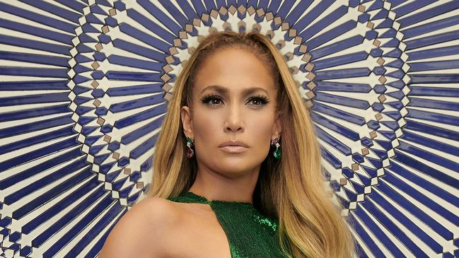 Jennifer Lopez Nearly Naked In Green Gown For Instyle -1461