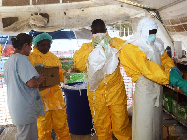 Epidemic ... the World Health Organisation has warned that Ebola could spread beyond hard-hit Guinea, Liberia and Sierra Leone to neighbouring nations. Picture: Cellou Binani