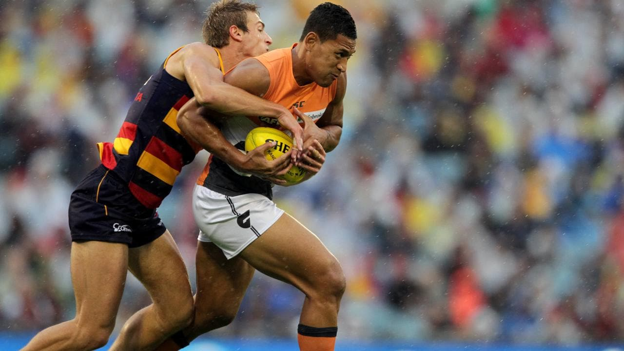 Israel Folau in action for the GWS Giants.
