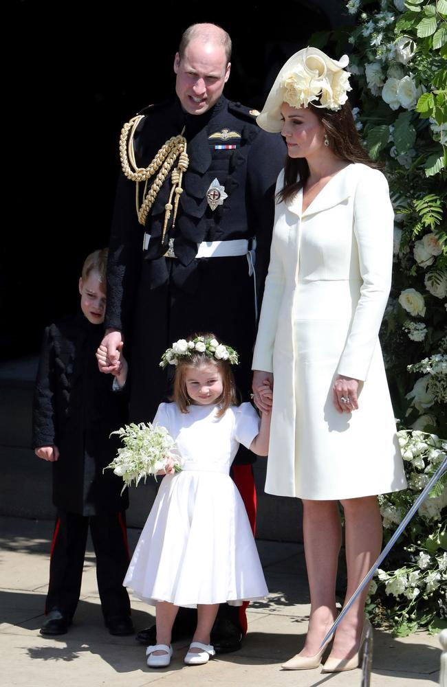 Thanks to a centuries-old law, the Queen has custody of George, Charlotte and Louis. Picture: Andrew Matthews — WPA Pool/Getty Images