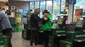 The photo is thought to have been taken at a Woolworths in Rosebud, Victoria. Picture: Facebook