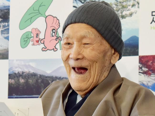 Masazo Nonaka, who held the title for world's oldest man, died in January aged 113. Picture: AFP