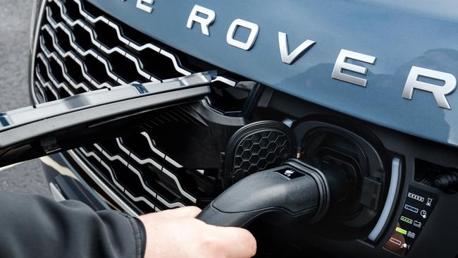 The plug has been placed on the grille for more convenient recharging. Picture: Supplied.