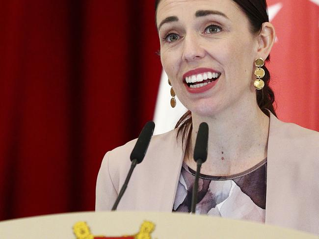 New Zealand's Prime Minister Jacinda Ardern has won praise for her relatable post about motherhood. Picture: AP Photo/Yong Teck Lim, File