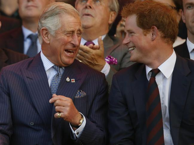 Harry has shared his own tender moments with Prince Charles over the years. Picture: Luke MacGregor/WPA Pool/Getty Images.