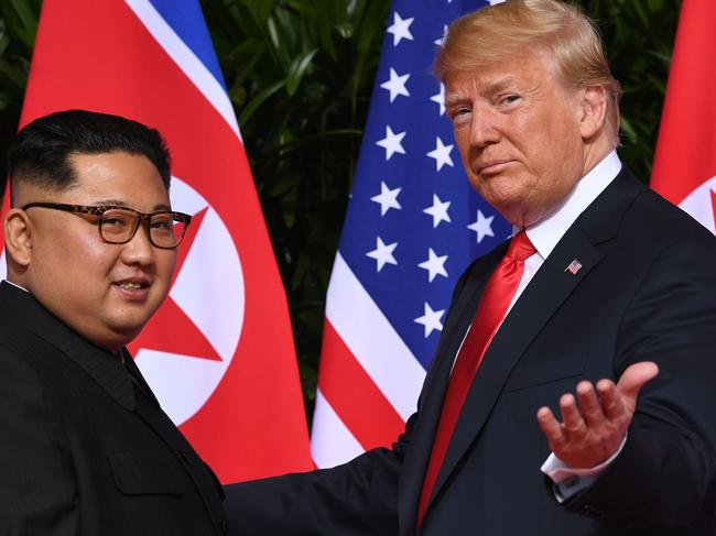 He also suggested Mr Xi could help find a solution on North Korea, since his meeting with leader Kim Jong-un appears to have had little effect. Picture: Saul Loeb / AFP