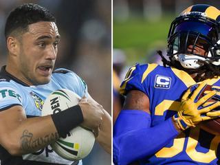 Valentine Holmes NFL, NRL: What position, size comparison