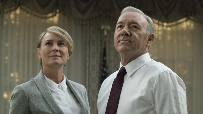 Robyn Wright and Kevin Spacey in House of Cards, season five
