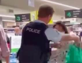 The woman was arrested for a separate incident last week.