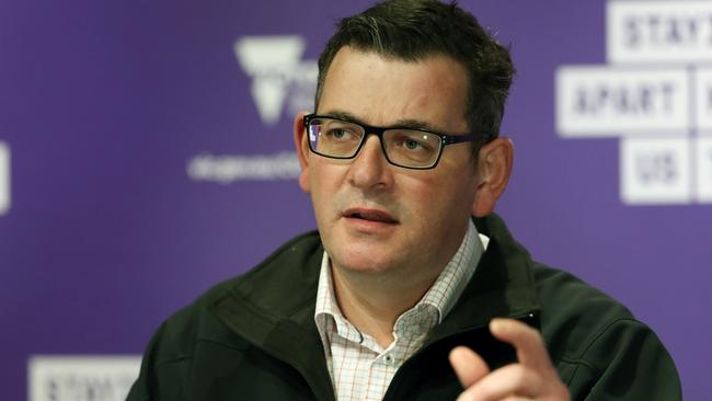 Victorian Premier Dan Andrews says federally regulated aged-care providers are struggling to maintain staffing levels and basic standards of care. Picture: David Crosling