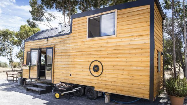 Brian and Dawn Kilgallon's tiny home in Carrickalinga, SA. Photo: Nick Clayton.