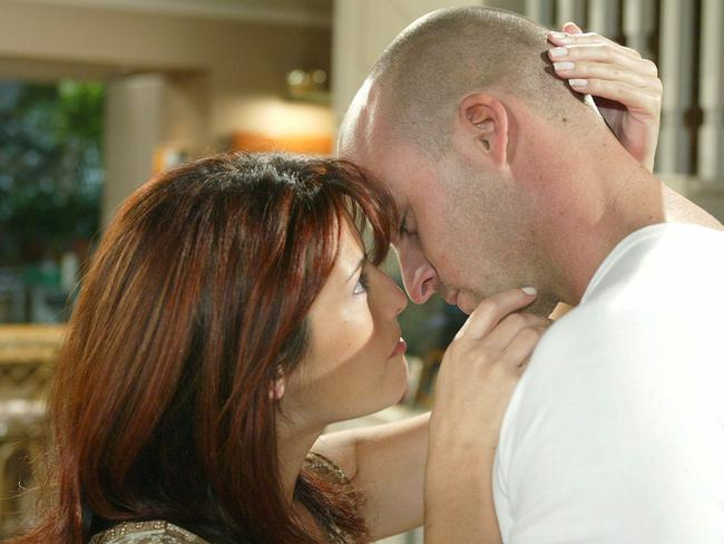 Ada Nicodemou with Ben Unwin in scene from Home and Away.
