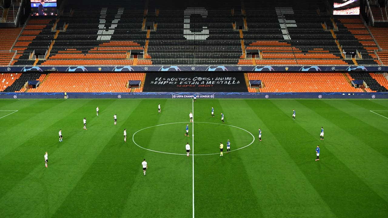 35 per cent of Valencia's team became infected.