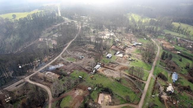 View of Kinglake about six months after the fire.