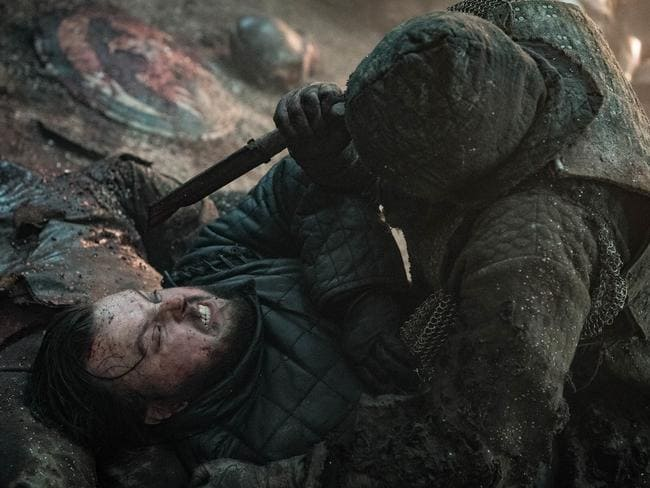 A nasty moment for Samwell in the battle. Is that a head in the background?
