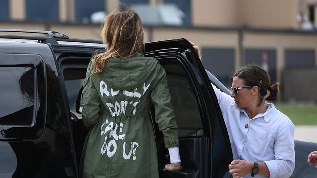 In June, Melania Trump came under fire over this jacket.