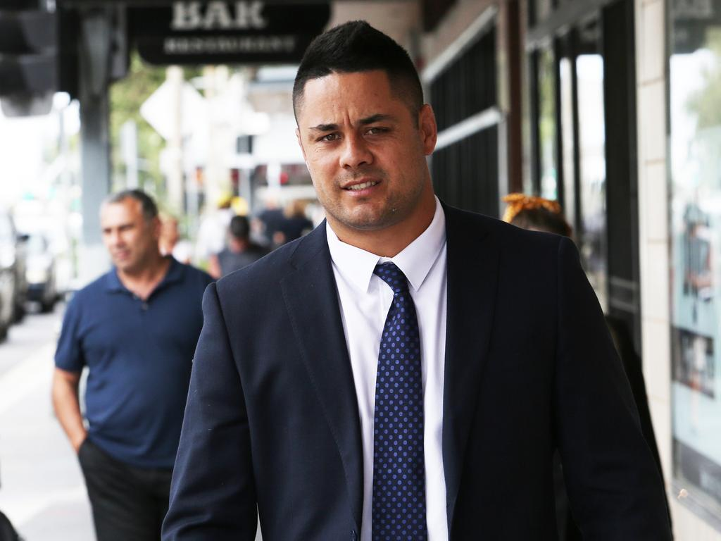 Former star rugby league player Jarryd Hayne leaving Newcastle Court in November. Picture NCA NewsWire/Peter Lorimer
