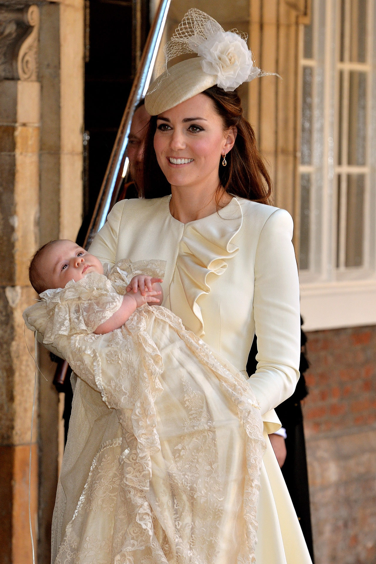 Kate Middleton at Prince George's christening. Image credit: Getty Images