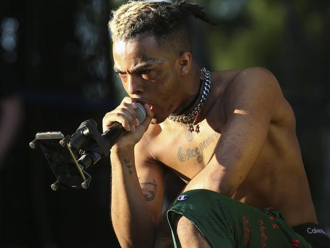 XXXTentacion pictured performing in Miami in 2017. Picture: Matias J. Ocner/Miami Herald/TNS/Newscom/Mega