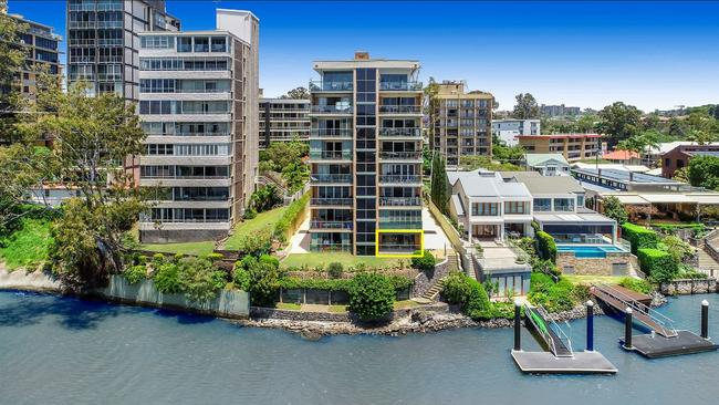 It has now been 'patched' up, with less of a crystal blue water affect. Picture: realestate.com.au