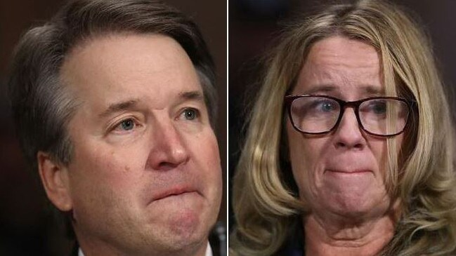 Judge Brett Kavanaugh and Christine Blasey Ford testify.