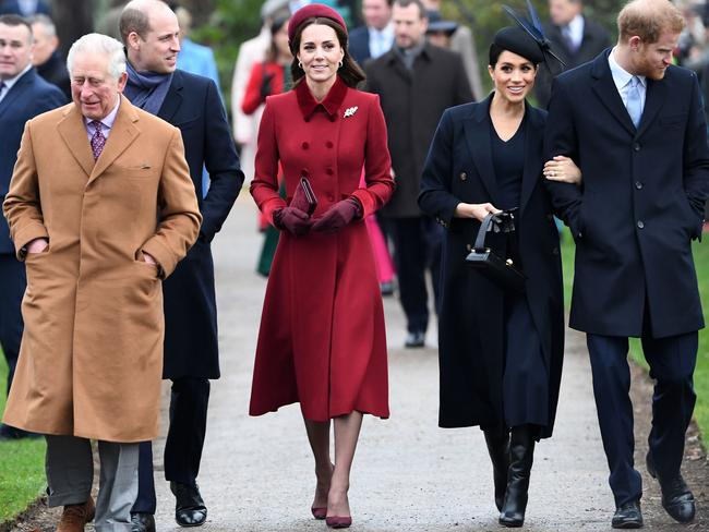 Royal watchers said Kate's birthday had been overshadowed by Harry and Meghan's announcement that they were essentially quitting the royal family. Picture: AFP