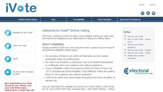 Voters in state elections in NSW and WA can cast their ballot online in certain circumstances.