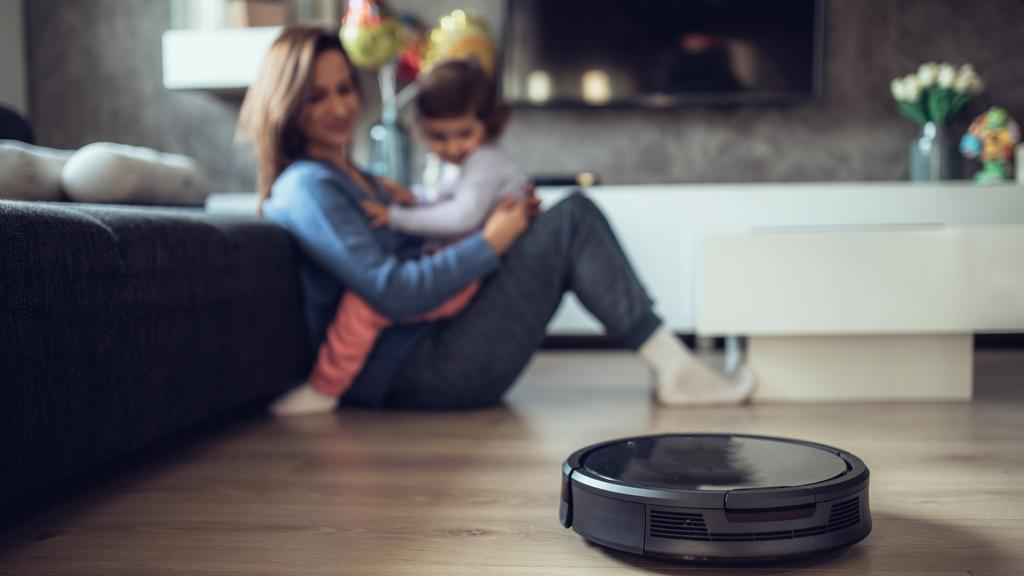 A vacuum robot can make its way around your home collecting dust and bacteria.