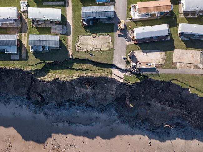 The coast is eroding at a rate of 2.3m per year, according to the council. Picture: SWNS/Mega