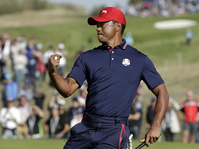 Tiger Woods lost all four of his Ryder Cup matches in Paris last month as the United States were crushed 17.5 to 10.5 by a rampant Europe. Picture: AFP