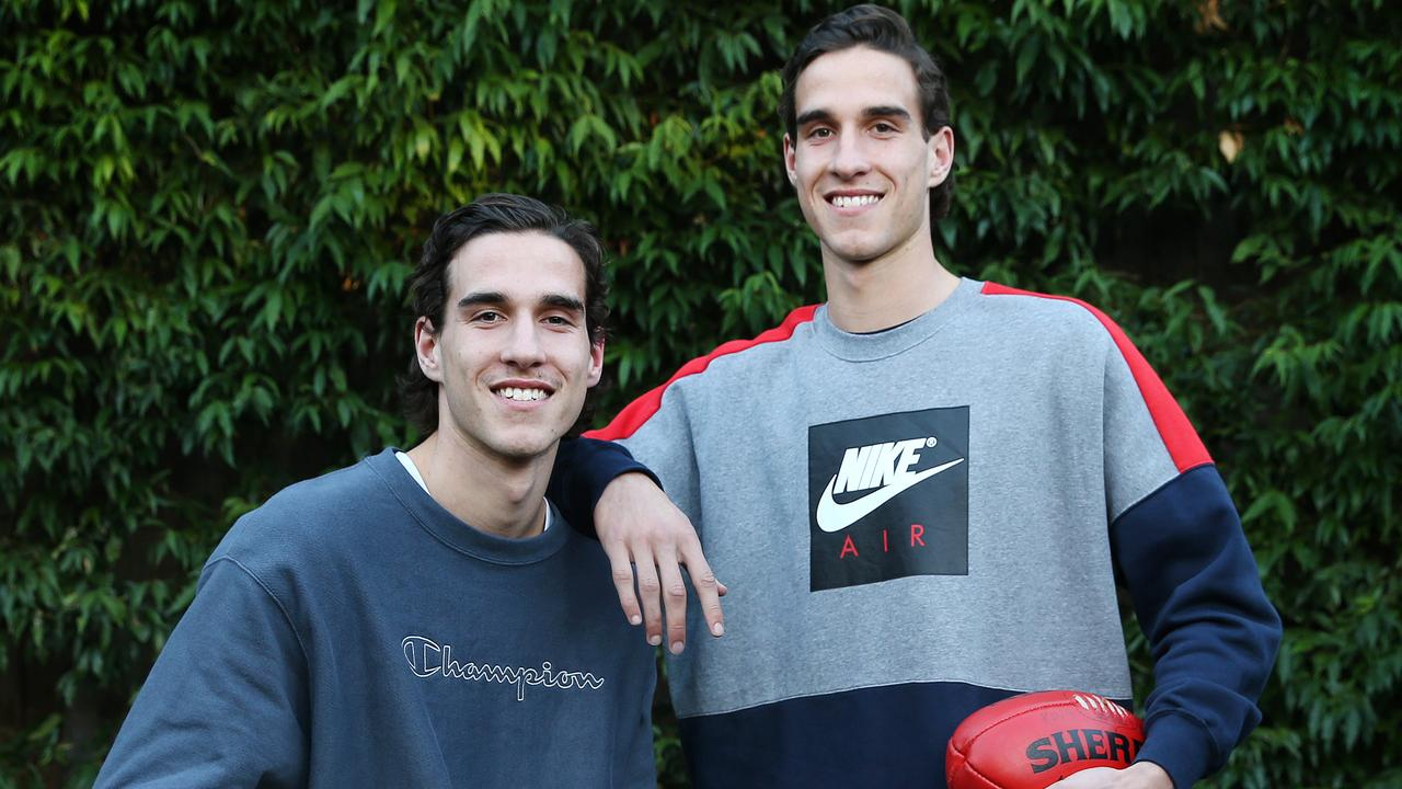 Identical twins Max (left) and Ben King. Photo: Michael Klein