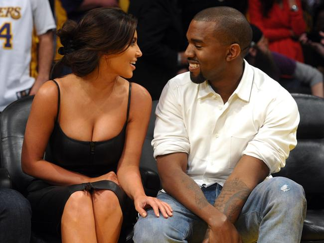 'Just a sick joke' ... Kim Kardashian was subjected to racist comments about her relationship with Kanye West. Picture: Noel Vasquez