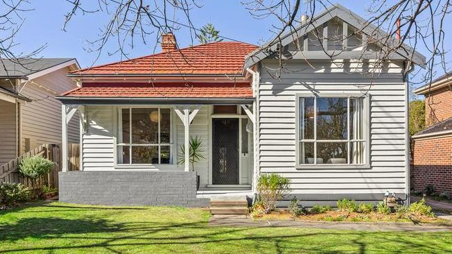 The house at 2 Benson St, Surrey Hills, sold after auction.