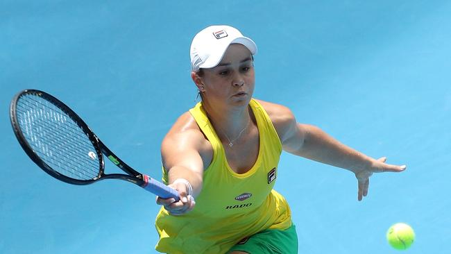 Ash Barty became a world number one this year. Picture: AAP Image/Richard Wainwright