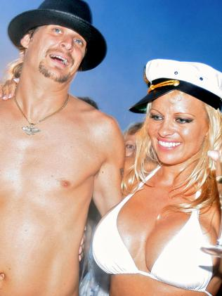 Pamela Anderson and then husband Kid Rock in 2006. Picture: AFP