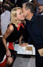 Naomi Watts and photographer Mario Testino attend the Michael Kors Spring 2016 Runway Show during New York Fashion Week: Picture: Getty