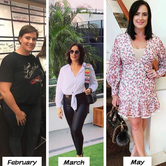 Margaux Parker has lost an incredible 15kg in three months by cutting out coffee, unhealthy snacks and eating three meals a day.