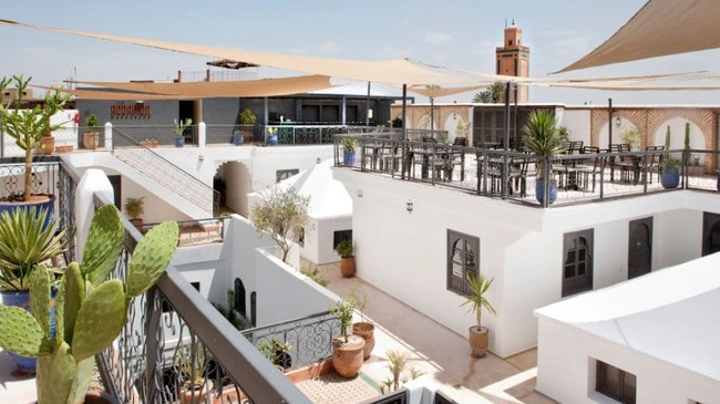 It also has a rooftop bar, perfect for parties. Picture: Rodamon Marrakech