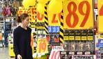 A customer is seen inside a JB Hi-Fi store in Brisbane, Monday, August 13, 2018. JB Hi-Fi's full yet net profit jumps 35 per cent to $232.2 million, thanks to strong demand for its consumer electronics. (AAP Image/Darren England) NO ARCHIVING
