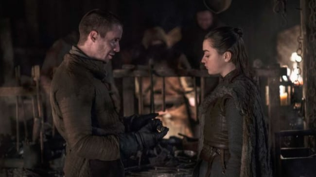 Gendry with Arya. Picture: HBO