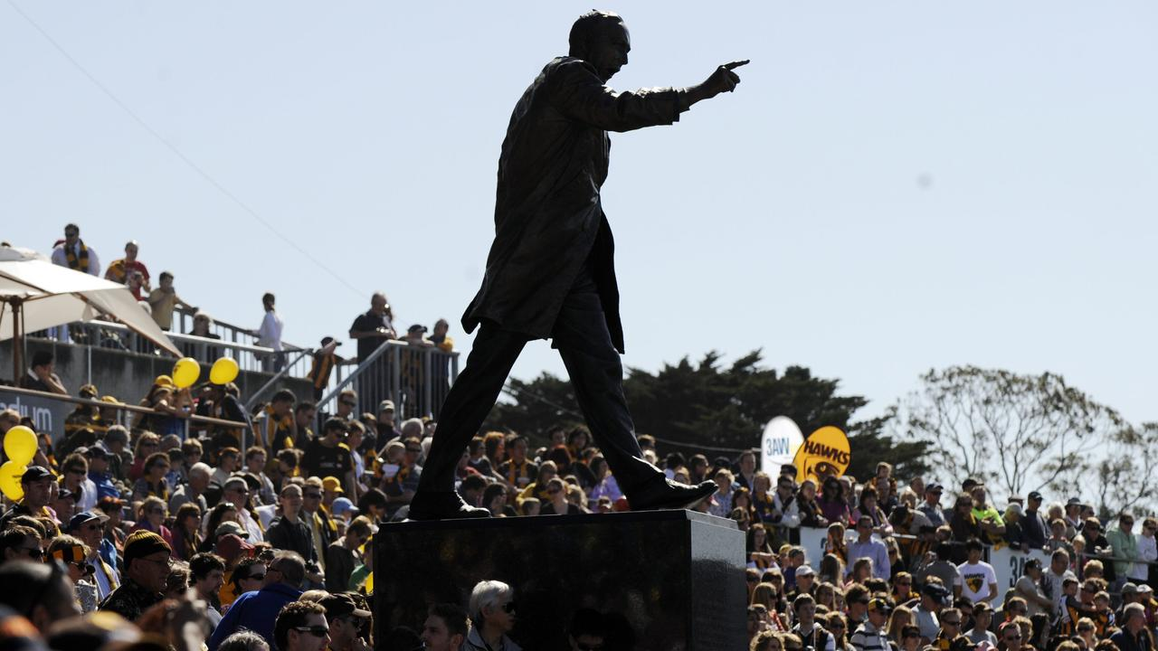 The Kennedy statue at Waverley Park.