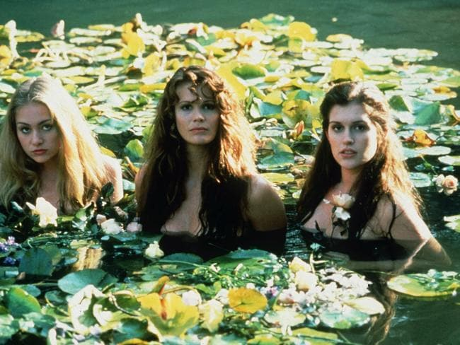 The role that made her famous: With Portia de Rossi (l) and Elle MacPherson (centre) & Kate Fischer in the 1993 hit Sirens.