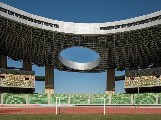 Ordos Stadium could fit 35,000 people, that's a third of the city's current population. Picture: Raphael Olivier